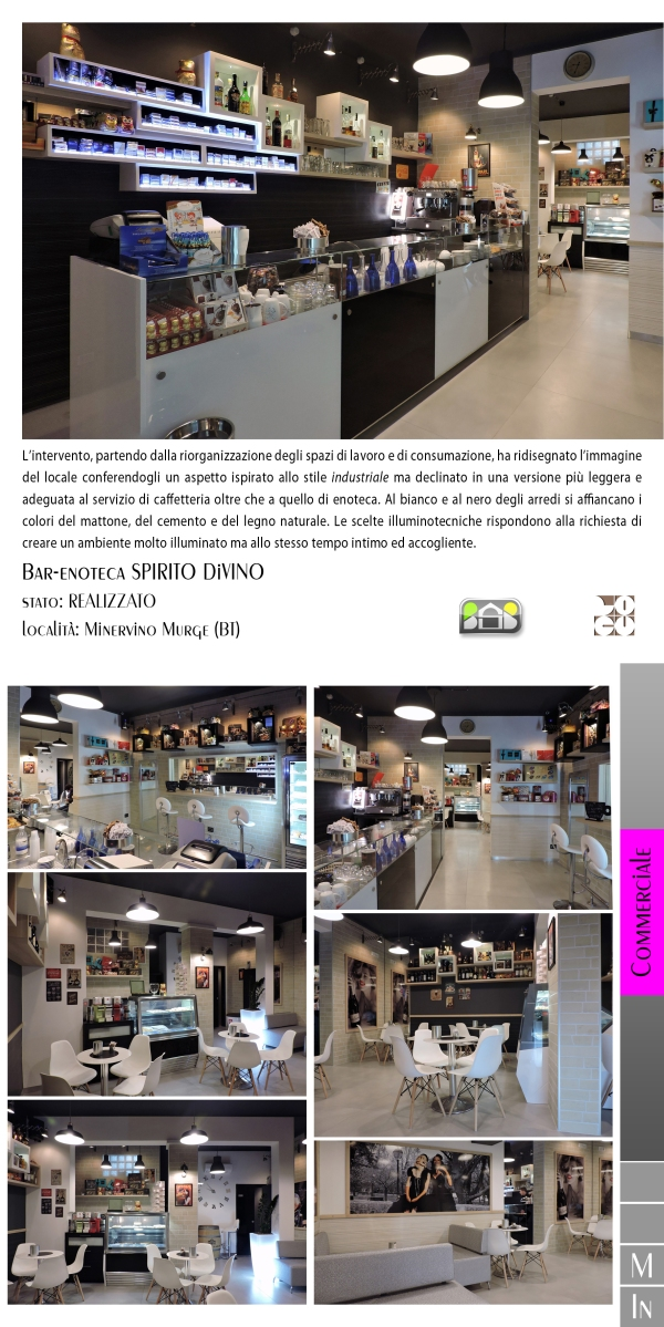 bar-enoteca SPIRITO DiVINO - projects & works - contract in edilizia - manutenzioni - interior design - chiavi in mano - BAT - puglia