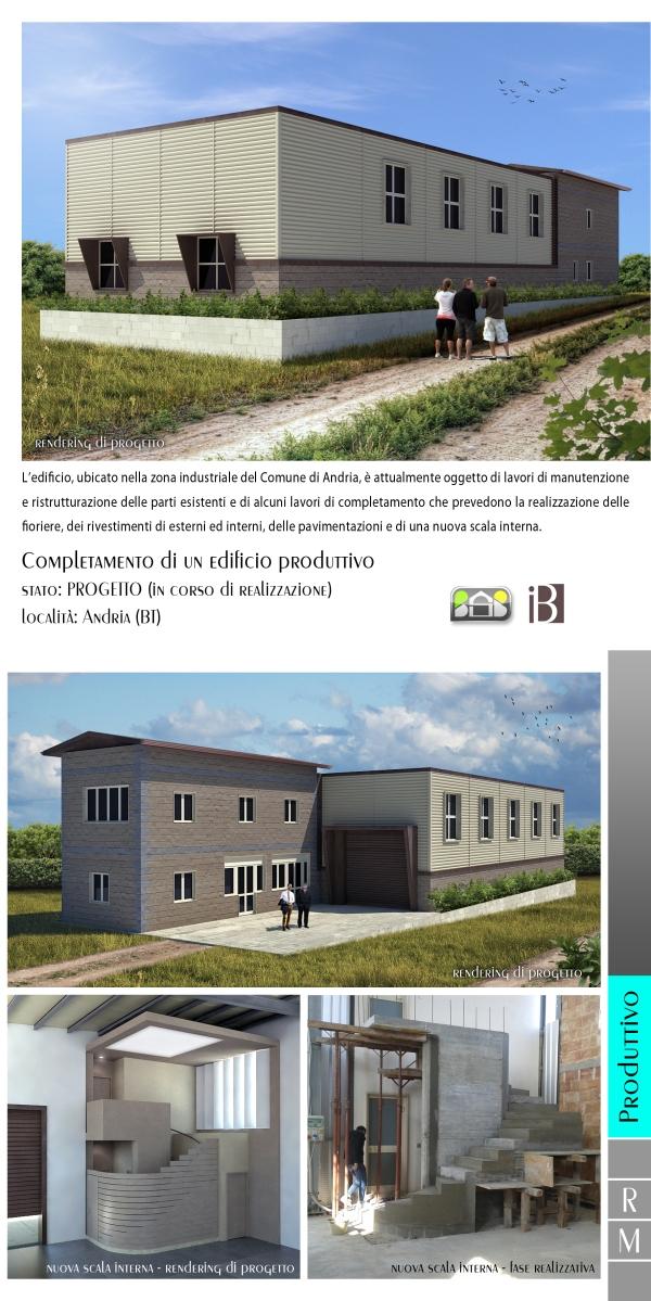completamento di un edificio produttivo