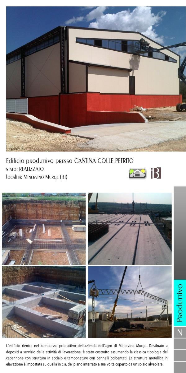 edificio produttivo presso cantina COLLE PETRITO - projects & works - contract in edilizia - nuove edificazioni - chiavi in mano - BAT - puglia