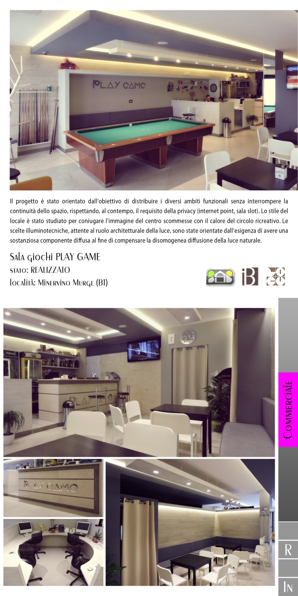 sala giochi PLAY GAME - projects & works - contract in edilizia - ristrutturazioni - interior design - chiavi in mano - BAT - puglia